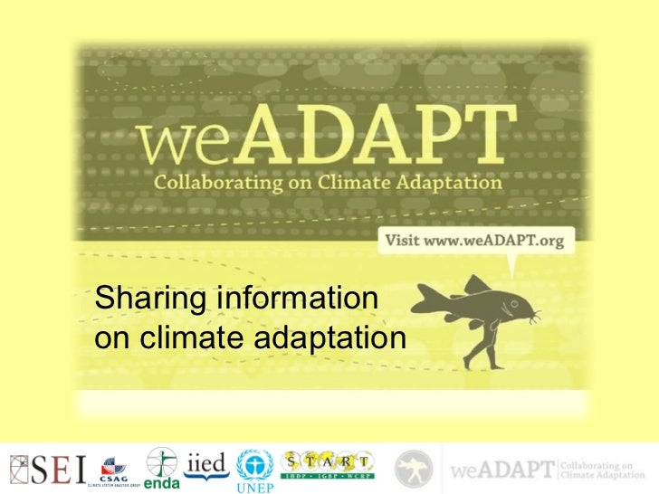 Sharing informationon climate adaptation