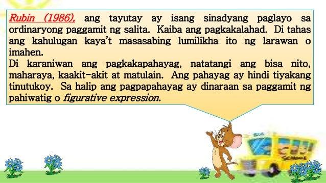talatang gumagamit ng tayutay Ni: kathlyn kaye s vargas ironiya / pag-uyam 1 mukha ni inday lahat  napapalingon angking kagandahang tigyawat na lipon batik-batik na mga mala- marmol.