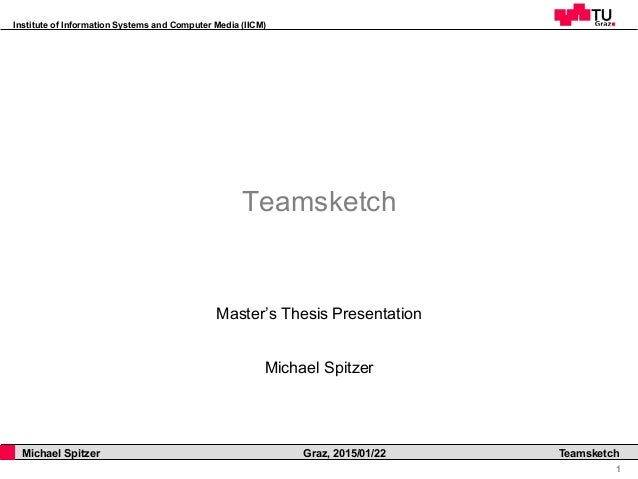 Institute of Information Systems and Computer Media (IICM) 1 Michael Spitzer Graz, 2015/01/22 Teamsketch Teamsketch Master...