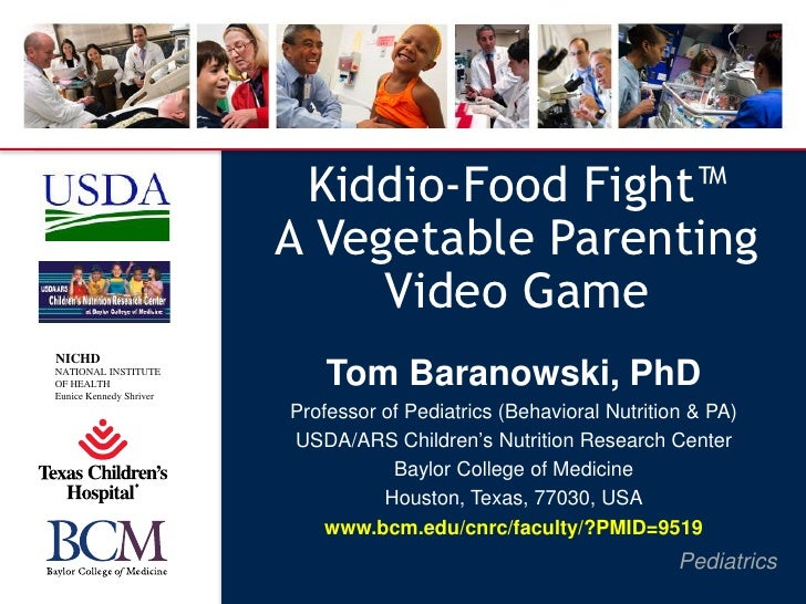 Kiddio-Food Fight™                         A Vegetable Parenting                              Video GameNICHDNATIONAL INST...
