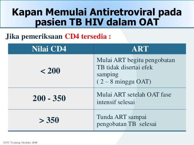 Berapa lama CD4 naik setelah minum ARV