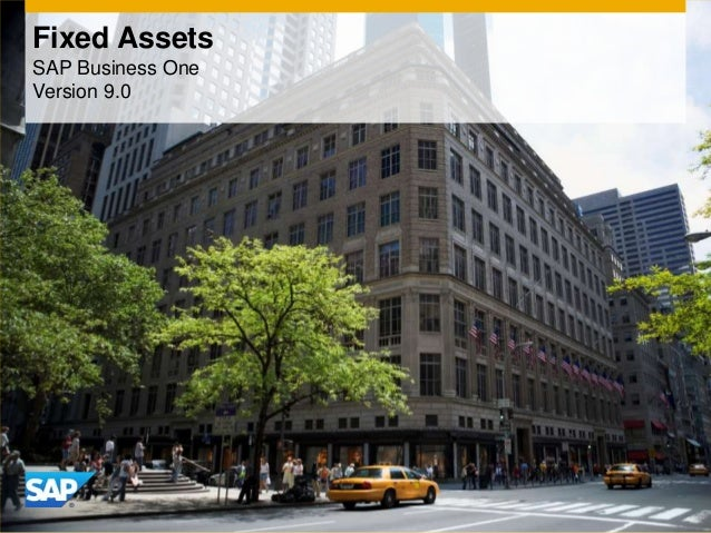 Fixed Assets SAP Business One Version 9.0