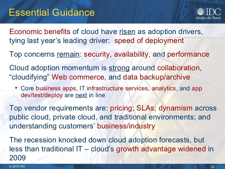 Cloud Computing 2010 An Idc Update