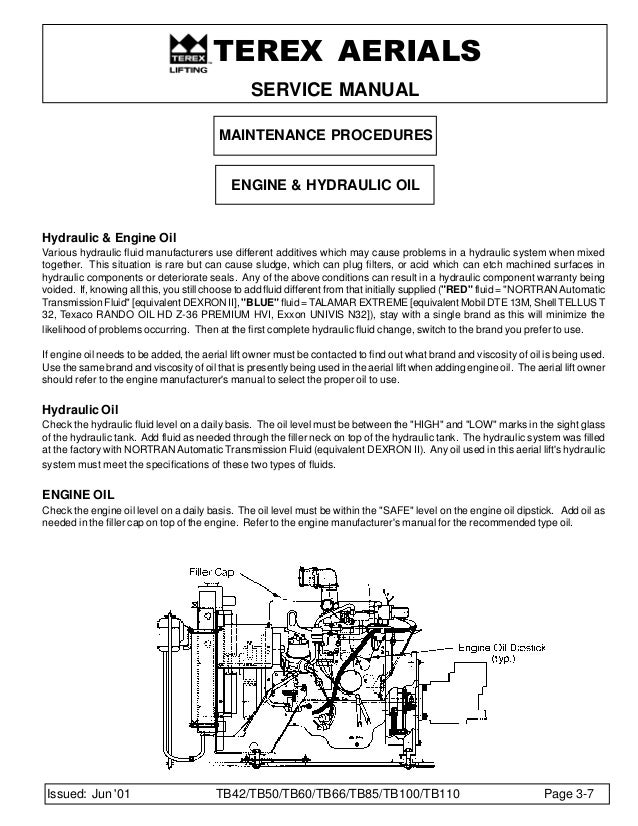 tb boom lift service manual maintenance procedures hydraulic system 36