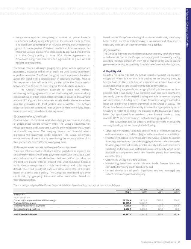 Trafigura 2014 Interim Report