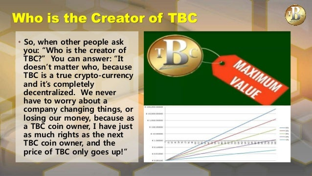 Tbc Thebillioncoin Stake Holder Presentation