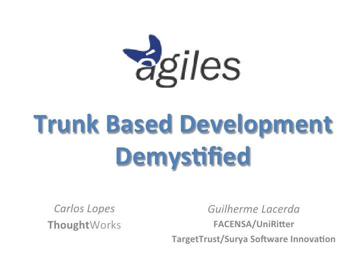 Trunk Based Development           Demys4fied                                                                 ...