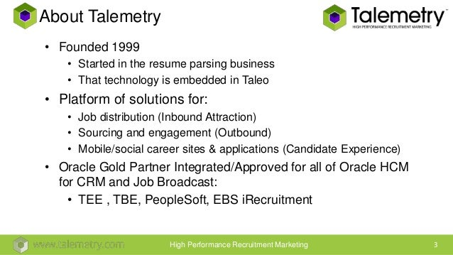 talemetry source crm and candidate attraction for taleo business ed