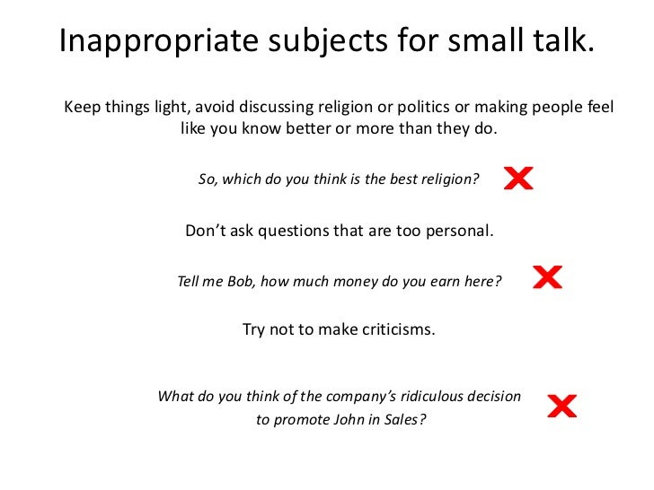 what is small talk and how to avoid it