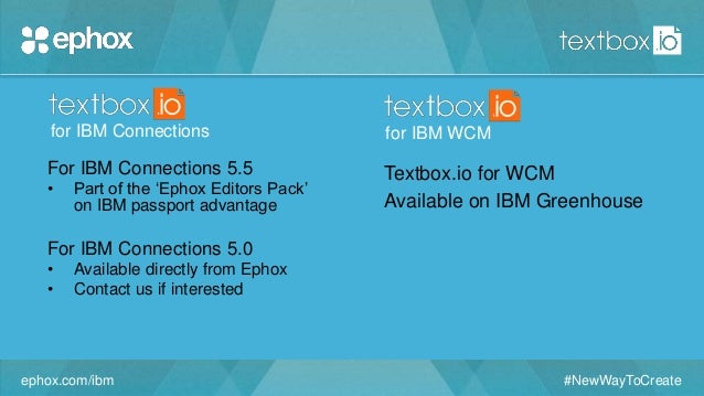 Textbox.io for IBM Connections