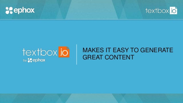 MAKES IT EASY TO GENERATE GREAT CONTENT