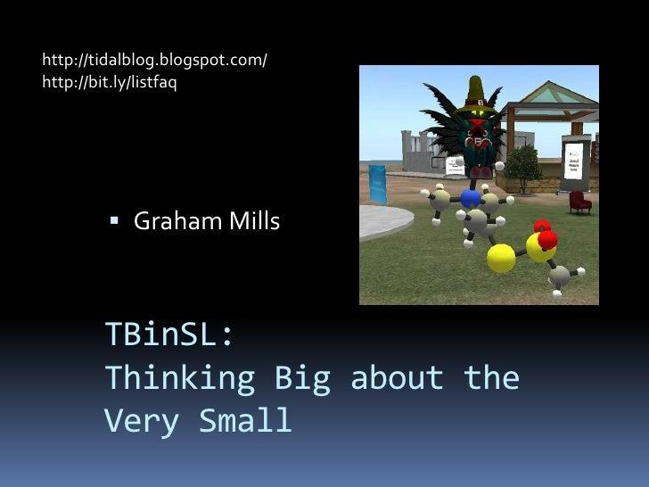 http://tidalblog.blogspot.com/<br />http://bit.ly/listfaq <br />Graham Mills<br />TBinSL:Thinking Big about the Very Small...