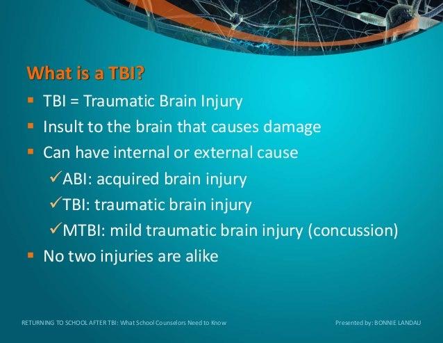 Returning to School After Traumatic Brain Injury (TBI) Slide 2