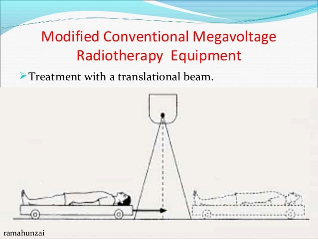 Modified Conventional Megavoltage Radiotherapy Equipment Sweeping beam technique ramahunzai What about PDDs. Are they rem...