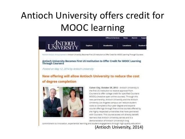 Credit And Collaboration In Moocs Where Are We Now