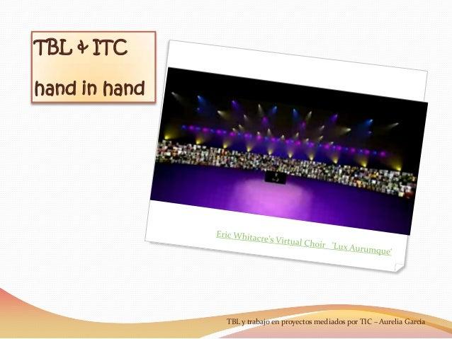 TBL & ITChand in handTBL y trabajo en proyectos mediados por TIC – Aurelia García