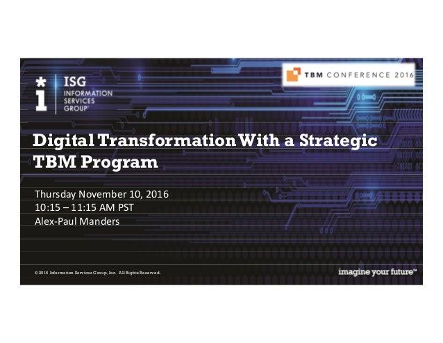 management technology business tbm digital achieving strategy slideshare