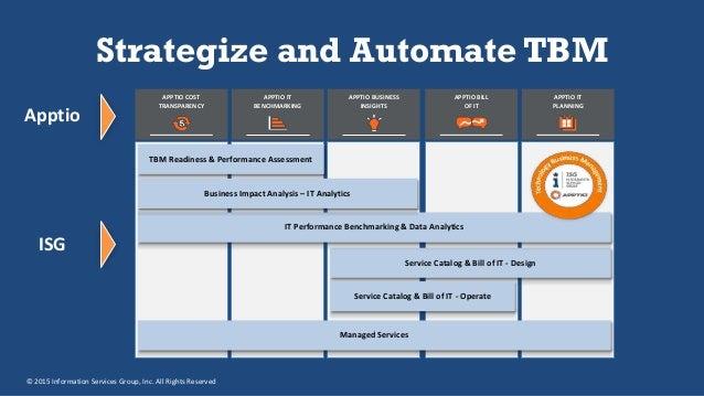 tbm management technology business value apptio realizing through
