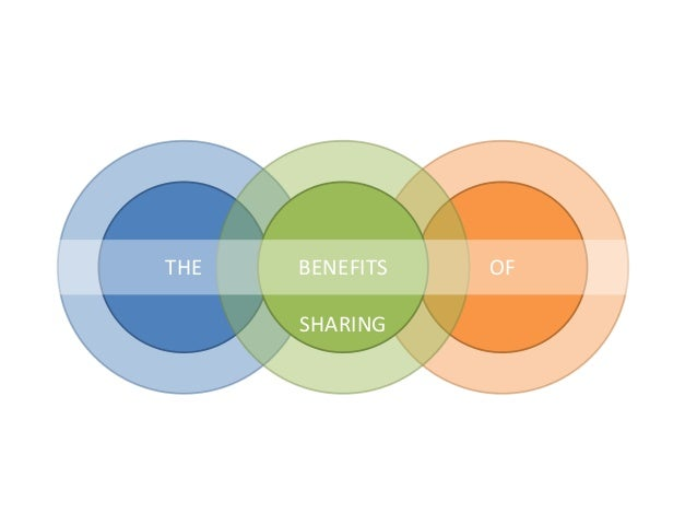 THE   BENEFITS   OF      SHARING