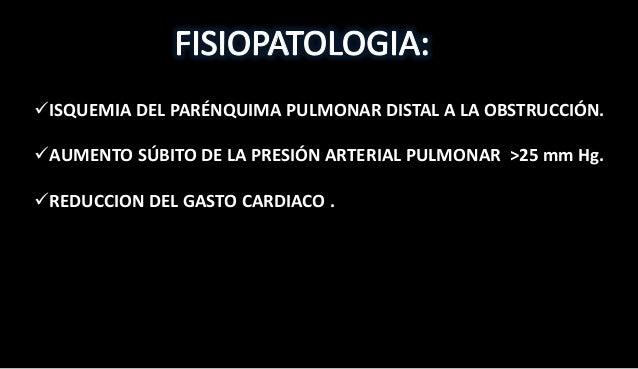  Ningún síntoma o signo es universal ni especifico.  Los síntomas y el grado de deterioro hemodinámico dependerá: -Tamañ...