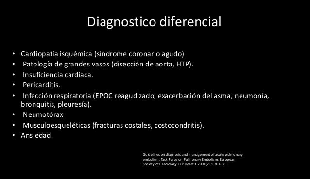 La radiografía de tórax es frecuentemente anormal. Hasta el 80% de los pacientes con TEP presentan alteraciones radiológic...