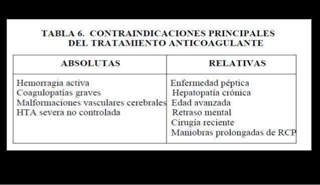 Profilaxis • HBPM (dosis óptima en función tipo de heparina) 1 administración /24h, mientras persista encamamiento o inmov...
