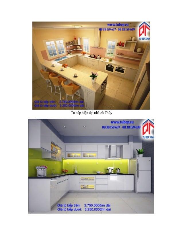 Tủ bếp hiện đại nhà cô Thùy