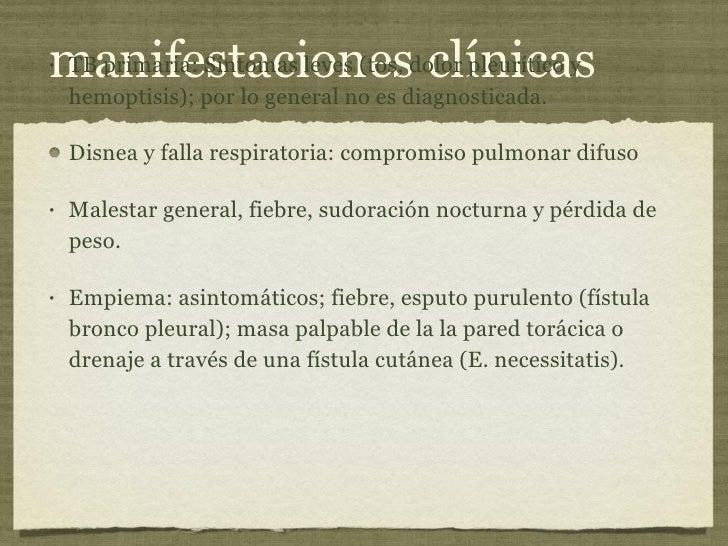 manifestaciones clínicas <ul><li>TB primaria: Síntomas leves (tos, dolor pleurítico y hemoptisis); por lo general no es di...