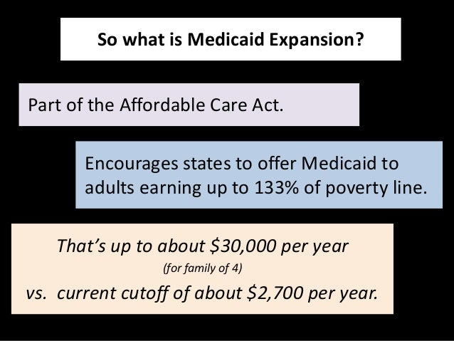 the current levels of the medicaid expansion in the united states and the expansion of the medicaid  Tenncare expansion could provide significant federal funding to extend medicaid eligibility to about 250,000 uninsured tennesseans under current law, tennessee would pay 10% of the long-term costs of expanding tenncare.