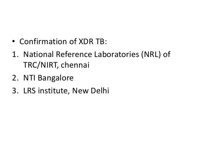 xdr tb treatment guidelines rntcp