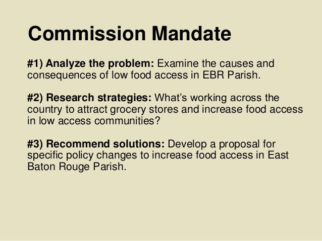 TBR Food Access #4: Food Access Policy Commission Final Report: Findings and policy recommendations Slide 3