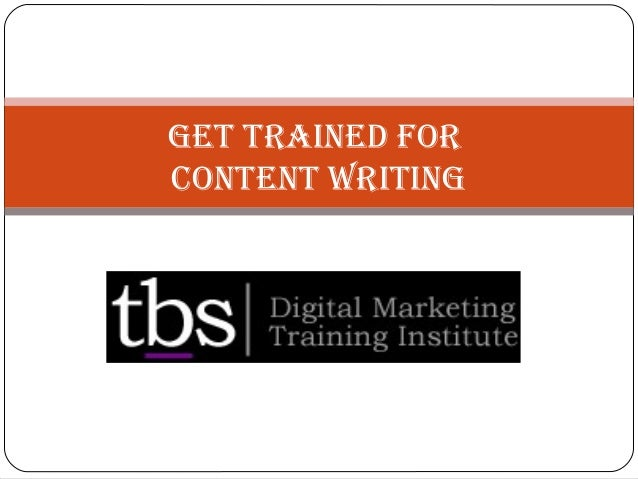 Get trained For Content WritinG