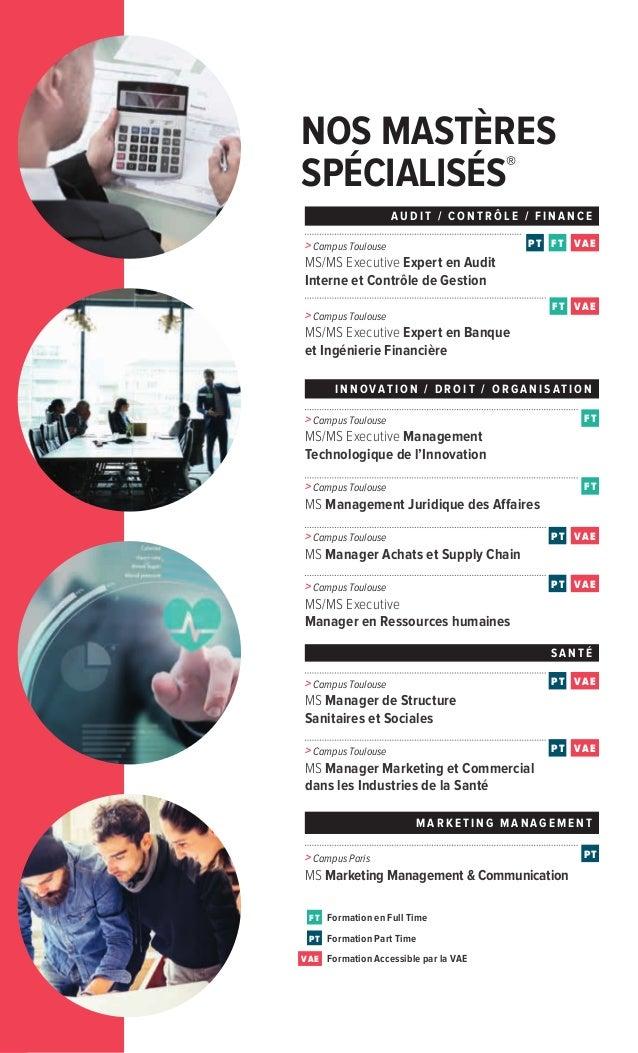 NOS MASTÈRES SPÉCIALISÉS® > Campus Paris MS Marketing Management & Communication FT Formation en Full Time Formation Part ...