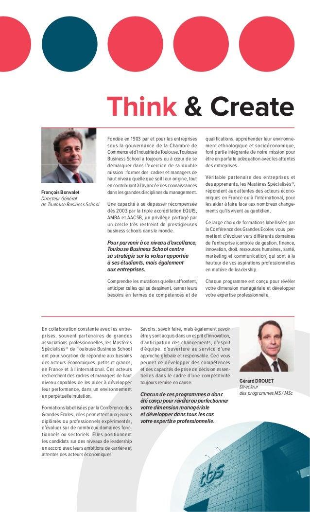Think & Create Fondée en 1903 par et pour les entreprises sous la gouvernance de la Chambre de Commerceetd'IndustriedeToul...