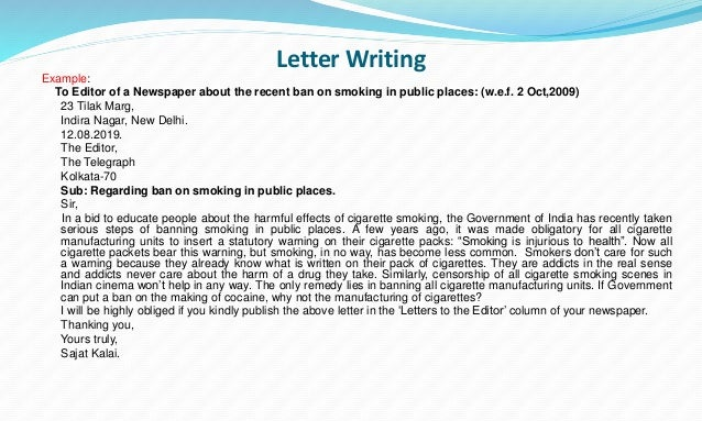 cbse and tbse writing section rules and examples