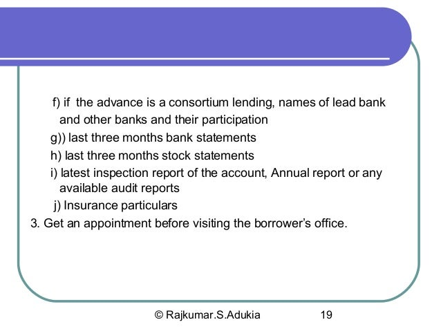 audit of banks 1 introducton this project is to view the task perform by an auditor while  conducting the audit of bank deposit and loans & advances.