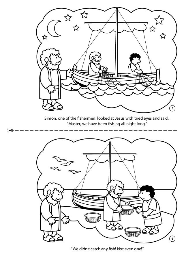 Coloring Book Line Fishing - Worksheet & Coloring Pages