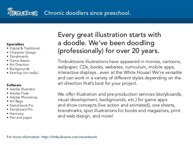 Chronic doodlers since preschool.                                Every great illustration starts withSpecialties          ...