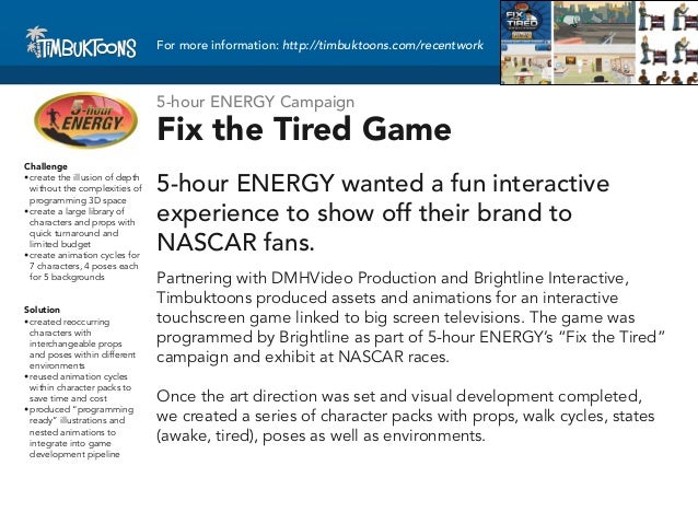 For more information: http://timbuktoons.com/recentwork                                 5-hour ENERGY Campaign            ...