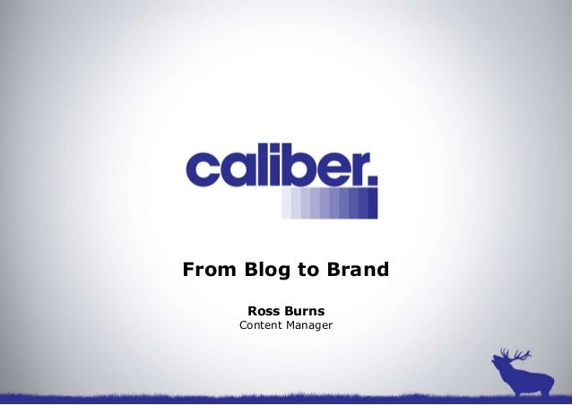 From Blog to BrandRoss BurnsContent Manager