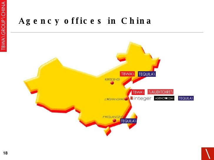 Agency offices in China