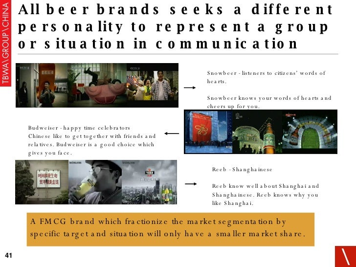 All beer brands seeks a different personality to represent a group or situation in communication Snowbeer - listeners to c...