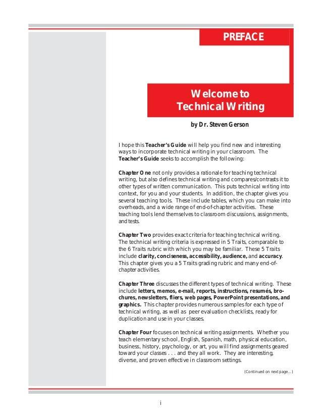 How to teach technical writing