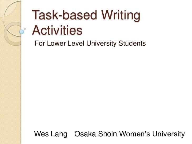 task based language teaching lesson plan pdf