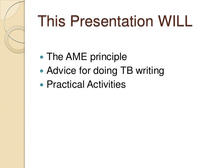 task-based writing activities