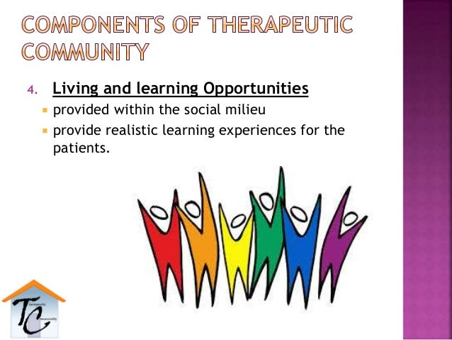 4. Living and learning Opportunities  provided within the social milieu  provide realistic learning experiences for the ...