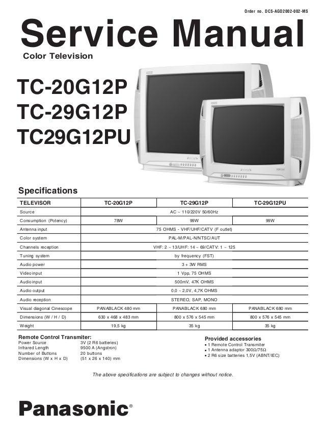 t v color panasonic tc 20 29 g12p rh slideshare net samsung 21 crt tv service manual samsung crt tv repair manual pdf