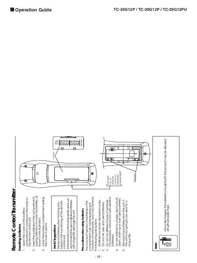 t v color Panasonic Tc 20 29-g12p