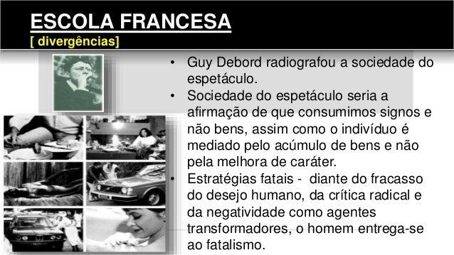 • Guy Debord radiografou a sociedade do espetáculo. • Sociedade do espetáculo seria a afirmação de que consumimos signos e...