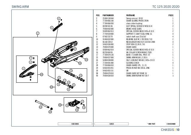 Tc 125 2020 chassis
